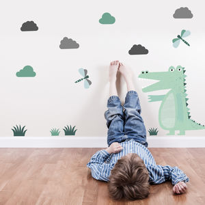Children's Crocodile Reusable Wall Stickers