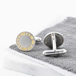 Personalised Gold And Silver Cufflinks