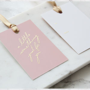Pack Of Six Gold Foil And Blush Gift Tags