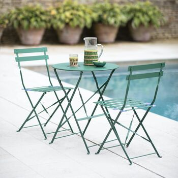 Small Bistro Set In Foliage Green