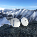Personalised Mountain Skyline Cufflinks