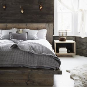 Reclaimed Wood Grey Bed - beds