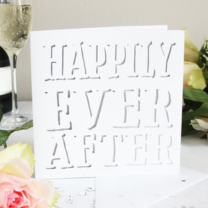 Happily Ever After Shadow Card - wedding cards