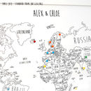 Personalised World Pin Board Map With Pins