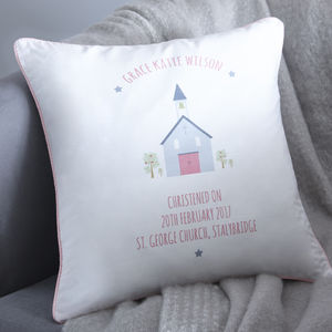 Personalised Christening Cushion - cushions