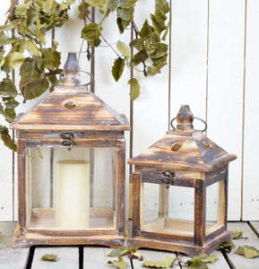 Reclaimed Wood Lantern - kitchen
