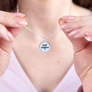 'Note To Self' Silver Positivity Pendant