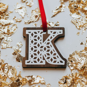 Personalised Alphabet Christmas Decorations