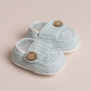 Hand Crochet Bamboo Baby Shoes - clothing