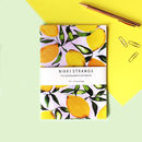 Lemons A5 Notebook With Lined Pages