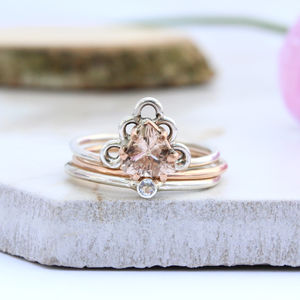 Agape, Vali And Hale Rose Gold Gypsy Stack Rings - rings