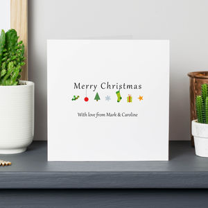 Personalised Christmas Icon Cards