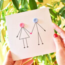 Couple Holding Hands Anniversary Card