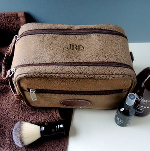 Personalised Mens Twin Zip Wash Bag - make-up & wash bags
