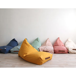 Large Woven Linen Bean Bags In Assorted Colours - floor cushions & beanbags