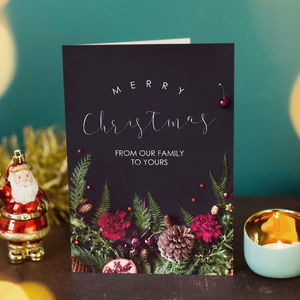 'From Our Family To Yours' Christmas Card - cards & wrap