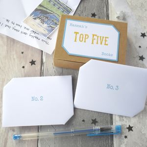 Book Lover Gift 'Top Five Books' Keepsake Box