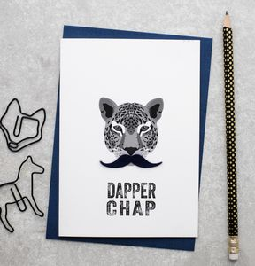 Dapper Chap Fathers Day Card With Felt Moustache