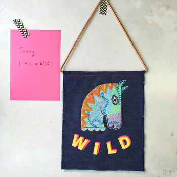 Handmade Wild Horse Wall Hanging For Children's Rooms
