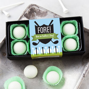 Fore! You On Father's Day Golf Ball Chocolates - sports fan