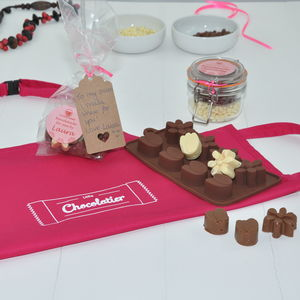 Chocolates For Mum: Personalised Flowers Chocolate Kit - aprons