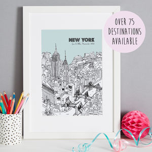 Our Special City Personalised Valentines Print