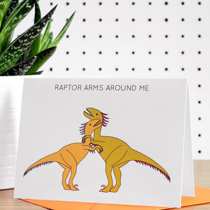 Raptor Arms Around Me Greeting Card - cards & wrap
