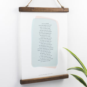 Godparent Poem Print For A Godchild - literature