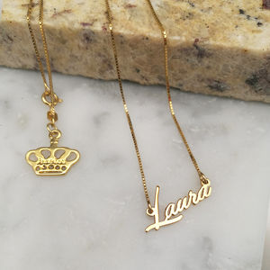 Tiny Name Necklace - necklaces & pendants