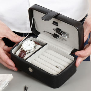 Personalised Gentleman's Accessories And Manicure Case