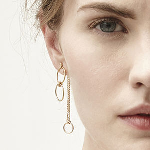 Hetty Gold Circle Earrings