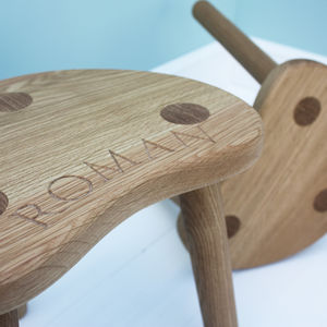 Child's Oak Stool - living room
