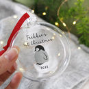 Baby's First Christmas Penguin Glass Bauble