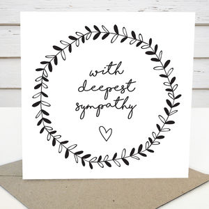Deepest Sympathy Card - shop by category