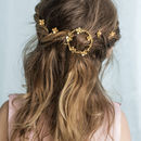 Handmade Gold Daisies Circlet Bridal Hair Accessory
