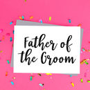 Father Of The Groom Wedding Card