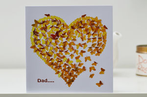 Dad Heart Of Gold Butterfly Card - gifts