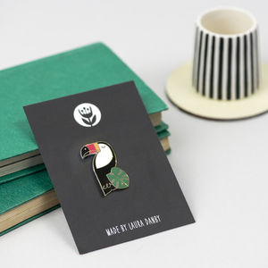 Toucan Bird Enamel Pin - jewellery sale