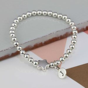 Personalised Tess Silver Star Bracelet - wedding fashion