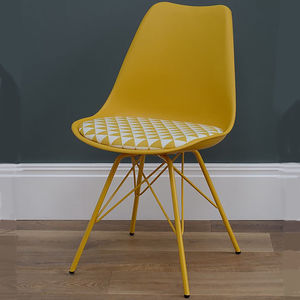 Retro Patterned Chair - dining chairs