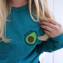 Embroidered Avocado Sweater