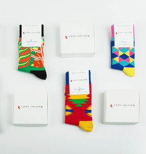Designer Sock Subscription Gift - festive socks
