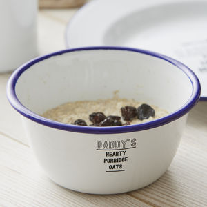 Personalised Enamel Bowl For Him - picnicware