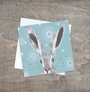 Holly Hare Christmas Greeting Card