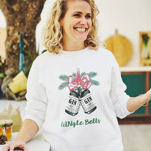 'Gingle Bells' Unisex Christmas Jumper - christmas jumpers