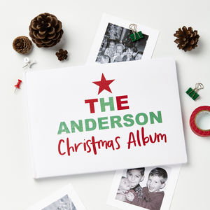 Personalised Christmas Family Photo Album - our favourite picture frames and photo albums