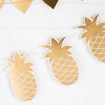 Gold Pineapple Bunting