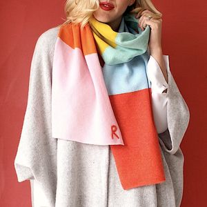 Knitted Colour Block Blanket Scarf - our top new picks