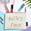 Personalised 'Face' Make Up Bag