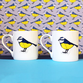 Blue Tit Mug Housewarming Gift Set
